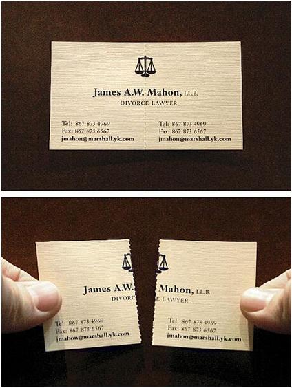 Tarjeta Visita Abogado de Divorcios