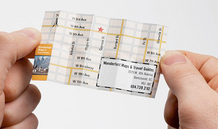 Tarjeta de visita agencia creadora de mapas