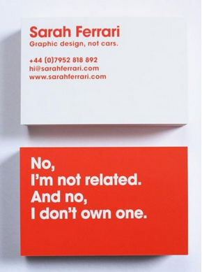 Tarjeta visita diseñador
