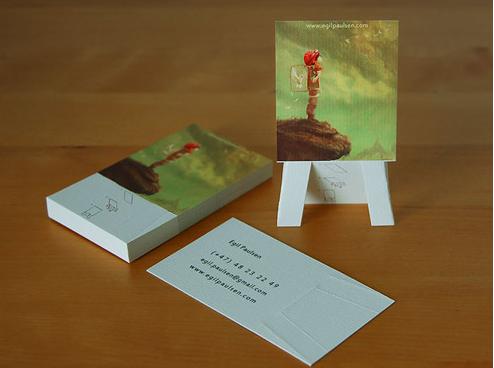 Tarjeta de visita pintor