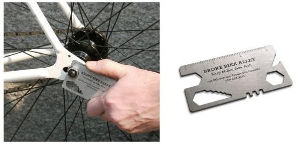 tarjeta visita técnico de bicicletas